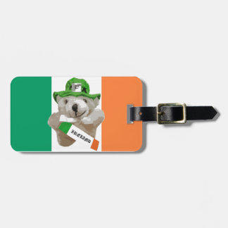 Ireland, Irish Leprechaun Teddy Bear, Flag Luggage Tag