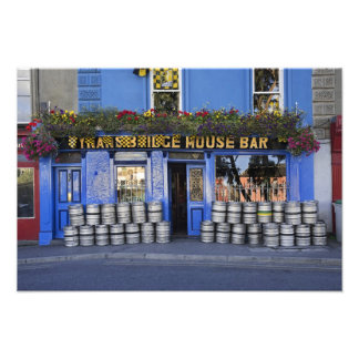 Ireland, Kilkenny. Exterior of pub with beer Photograph