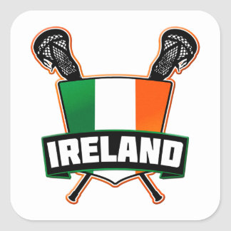 Ireland Lacrosse Irish Square Sticker