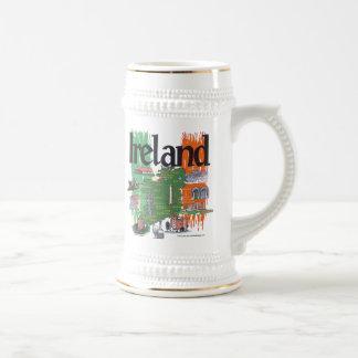 ireland map beer stein