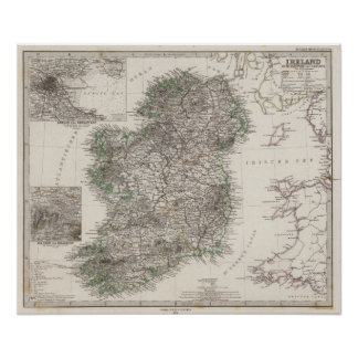 Ireland Map by Stieler Poster