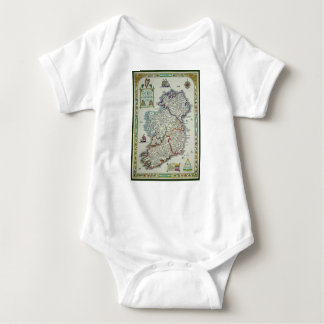 Ireland Map - Irish Eire Erin Historic Map Baby Bodysuit