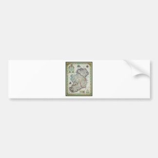 Ireland Map - Irish Eire Erin Historic Map Bumper Sticker