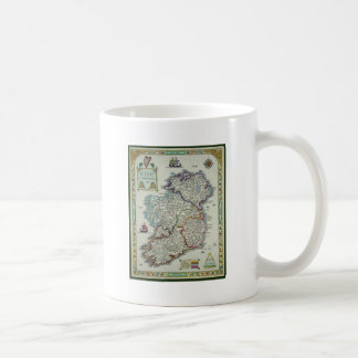 Ireland Map - Irish Eire Erin Historic Map Coffee Mug