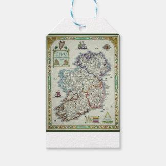 Ireland Map - Irish Eire Erin Historic Map Gift Tags