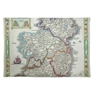 Ireland Map - Irish Eire Erin Historic Map Placemat
