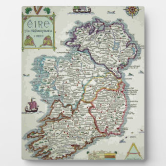 Ireland Map - Irish Eire Erin Historic Map Plaque