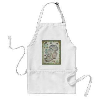 Ireland Map - Irish Eire Erin Historic Map Standard Apron