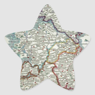 Ireland Map - Irish Eire Erin Historic Map Star Sticker