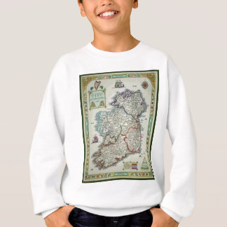 Ireland Map - Irish Eire Erin Historic Map Sweatshirt