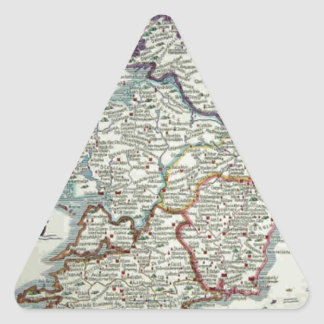 Ireland Map - Irish Eire Erin Historic Map Triangle Sticker