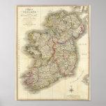 Ireland map poster