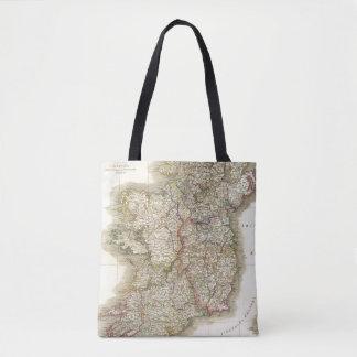 Ireland map tote bag