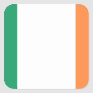 Ireland National World Flag Square Sticker