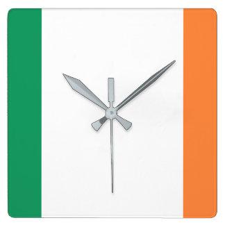 Ireland National World Flag Square Wall Clock
