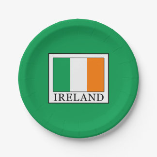 Ireland Paper Plate
