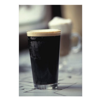 Ireland. Pint of stout. Photograph
