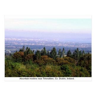 Ireland postcard, Dublin mountains treeline