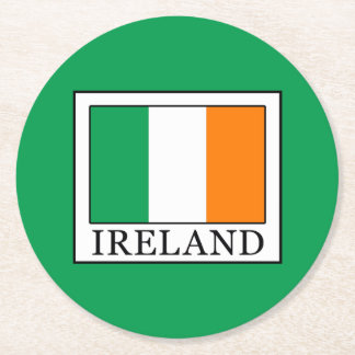 Ireland Round Paper Coaster