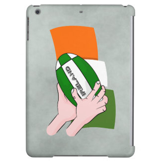 Ireland Rugby Team Supporters Flag With Ball