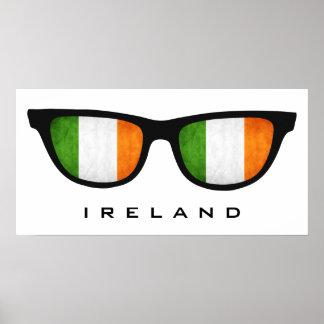 Ireland Shades custom text & color poster