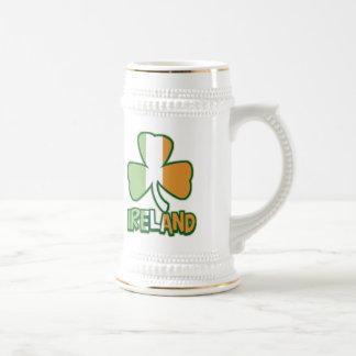 Ireland Shamrock Beer Stein 18 Oz Beer Stein