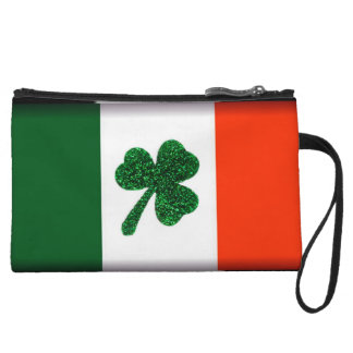 Ireland Shamrock Flag Clutch Bag