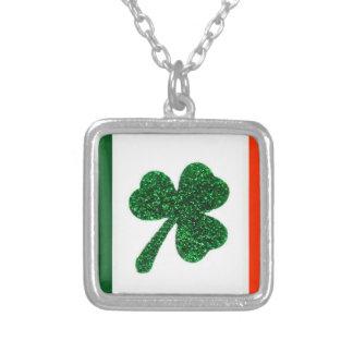 Ireland Shamrock Flag Necklace