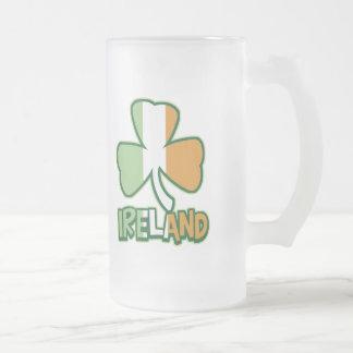 Ireland Shamrock Frosted Mug