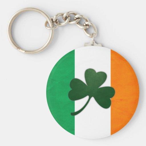 Ireland Shamrock Keychain