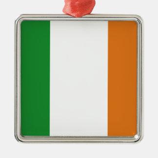 Ireland Silver-Colored Square Decoration