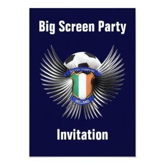 Ireland Soccer Champions 13 Cm X 18 Cm Invitation Card