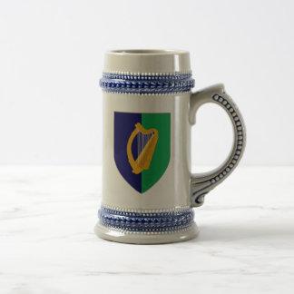 Ireland Stein - Harp on Blue & Green Shield