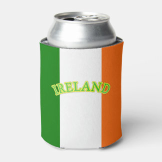 Ireland Text Graphic Irish Themed Can Cooler