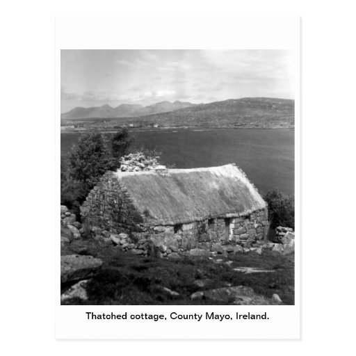 Ireland Thatched cottage, County Mayo Post Card