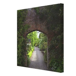 Ireland, the Dromoland Castle very green Stretched Canvas Print
