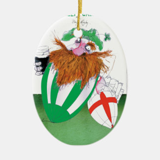 ireland v england rugby balls tony fernandes ceramic oval decoration