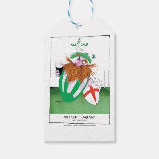ireland v england rugby balls tony fernandes gift tags