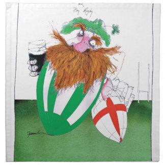 ireland v england rugby balls tony fernandes napkin