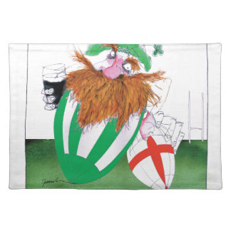 ireland v england rugby balls tony fernandes placemat