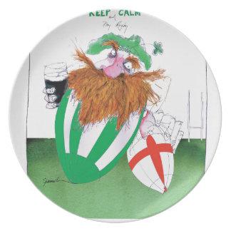 ireland v england rugby balls tony fernandes plate