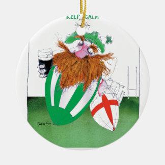 ireland v england rugby balls tony fernandes round ceramic decoration
