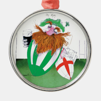 ireland v england rugby balls tony fernandes Silver-Colored round decoration
