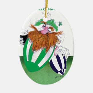 ireland v scotland rugby balls tony fernandes ceramic oval decoration