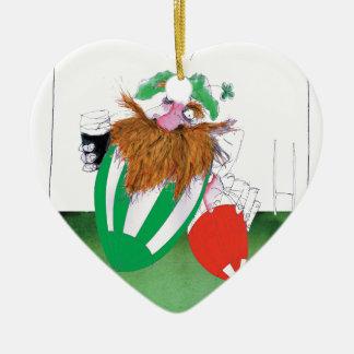 ireland v wales rugby balls tony fernandes ceramic heart decoration