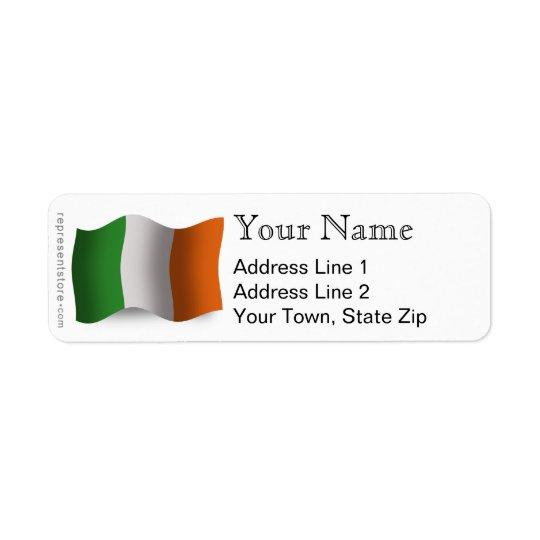 Ireland Waving Flag Return Address Label
