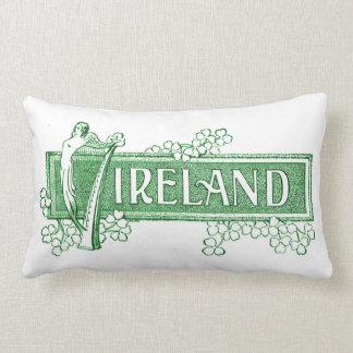 Ireland with Irish Harp Lumbar Pillow