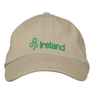 Ireland with Shamrock Embroidered Hat