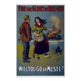 Ireland WW1 British Army recruiment poster