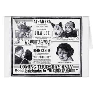 Irene Castle Lila Lee 1919 vintage movie ad card